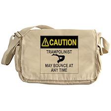 Caution Trampolinist Messenger Bag
