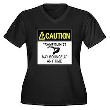 Caution Trampolinist Plus Size T-Shirt