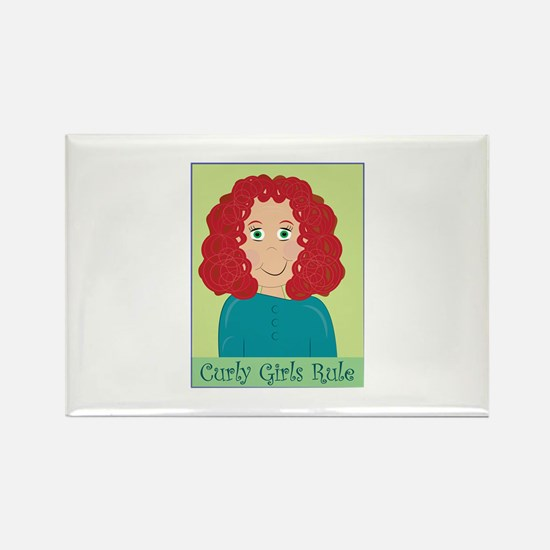 Curly Girls Rule Magnets