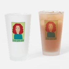 Curly Girls Rule Drinking Glass