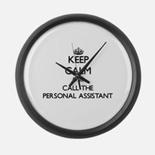 Unique Personal assistant Large Wall Clock