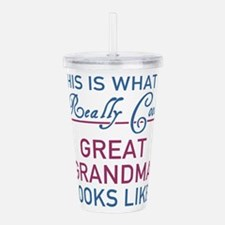 Cute Grandmother Acrylic Double-wall Tumbler