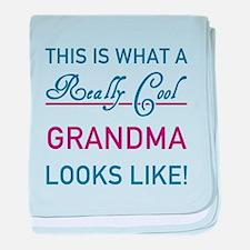 Cute Worlds best grandma baby blanket