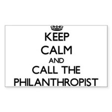 Keep calm and call the Philanthropist Decal