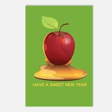 Sweet Jewish New Year Postcards (package Of 8)