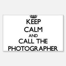 Keep calm and call the Photographer Decal