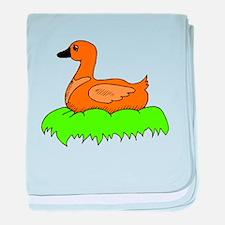 Duck In Nest baby blanket