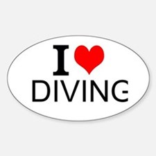 I Love Diving Decal