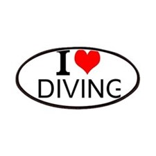 I Love Diving Patches