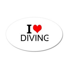 I Love Diving Wall Decal