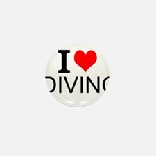 I Love Diving Mini Button (10 pack)