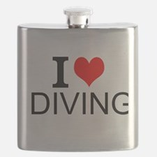 I Love Diving Flask