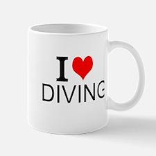 I Love Diving Mugs