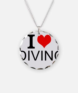 I Love Diving Necklace