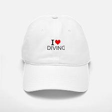 I Love Diving Baseball Baseball Baseball Cap