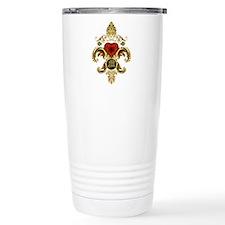 monogram M Fleur De Lis Travel Mug