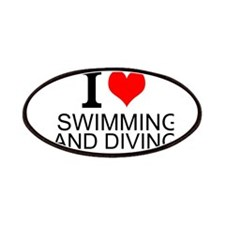 I Love Swimming And Diving Patches