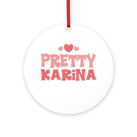 Karina Ornament (Round)