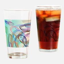 Cute Aqua circles Drinking Glass