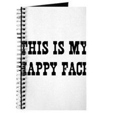 This Is My Happy Face Journal