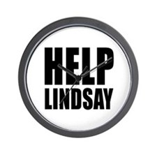 HELP LINDSAY Wall Clock