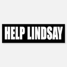HELP LINDSAY Bumper Bumper Bumper Sticker
