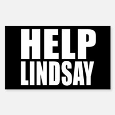 HELP LINDSAY Rectangle Decal