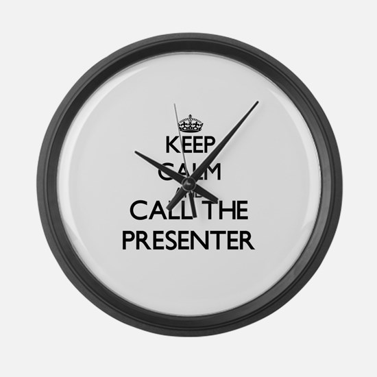 Unique Presenter Large Wall Clock
