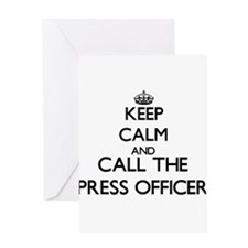 Keep calm and call the Press Officer Greeting Card