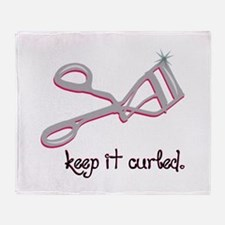 Keep It Curled Throw Blanket