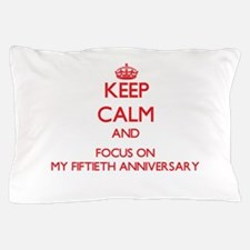 Cool 50th wedding anniversary Pillow Case