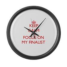 Funny Finalist Large Wall Clock