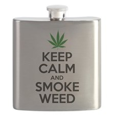 Keep Calm And Smoke Weed Flask