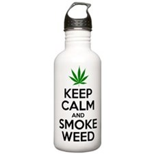 Keep Calm And Smoke Weed Water Bottle