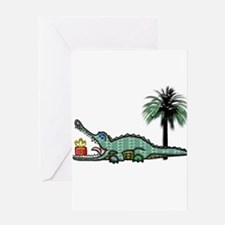 Xmas Gator Gift Greeting Cards