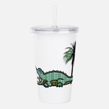 Unique Gators Acrylic Double-wall Tumbler