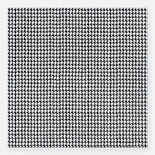 Denim Jean Houndstooth Pattern Square Car Magnet 3