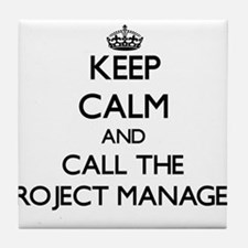Cute Project manager Tile Coaster