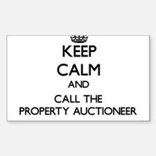 Keep calm and call the Property Auctioneer Decal