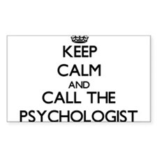 Keep calm and call the Psychologist Decal