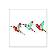 Xmas Hummingbirds Sticker