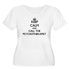 Keep calm and call the Psychotherapist Plus Size T