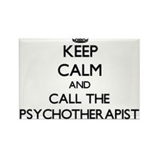 Keep calm and call the Psychotherapist Magnets