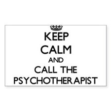 Keep calm and call the Psychotherapist Decal