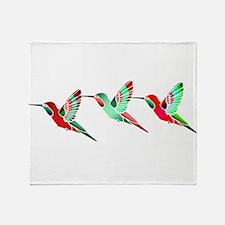 Cute Humming bird Throw Blanket