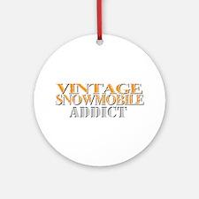 Vintage Addict Ornament (Round)