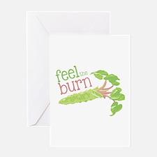 Feel the Burn Greeting Cards