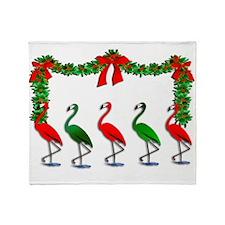 Unique Tropical christmas Throw Blanket