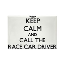 Keep calm and call the Race Car Driver Magnets
