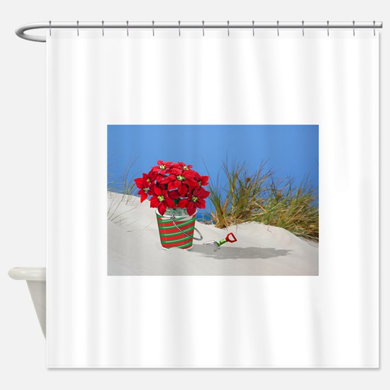 Funny Tropical christmas Shower Curtain